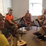 National flat-picking champion Joe Smart's guitar class at the O'Connor Method Camp NYC 2015.