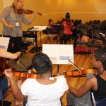 Orchestra elective at the O'Connor Method Camp NYC 2015. Photo by Richard Casamento.